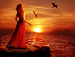 Golden evenfall by Daystar-Art