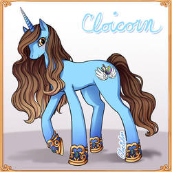 Cloicorn alicorn by Spoonful0fcats