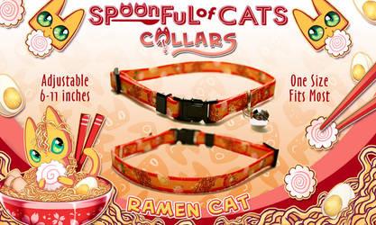 Ramen Cat Cat Collar! by Spoonful0fcats
