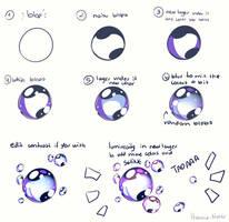Tutorial - Bubbles [light BG] by Hyan-Doodles