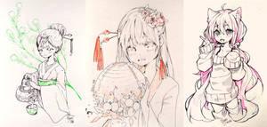 Inktober 8-10 by Hyan-Doodles