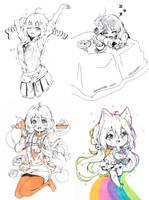 Inktober 16 - 19 by Hyan-Doodles