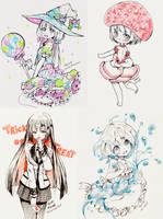 Inktober 20 - 23 by Hyan-Doodles