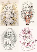 Inktober 24 - 27 by Hyan-Doodles