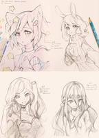 Sketchtember 6-9 by Hyan-Doodles