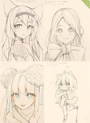 Sketchtember 10-13 by Hyan-Doodles
