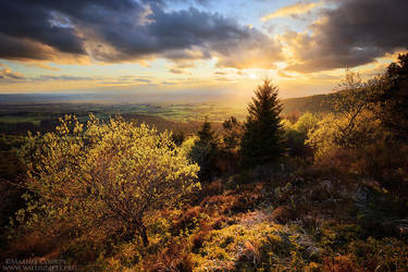 Spring Sunset from the Puy de la Coquille by MaximeCourty
