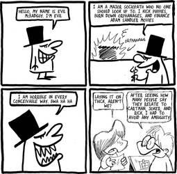 Evil McBadguy by bakertoons