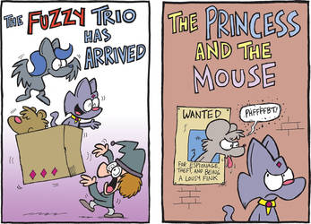The Fuzzy Princess Kickstarter: Title Pages! by bakertoons