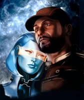 Mass Effect Joker and Edi by WizardJack