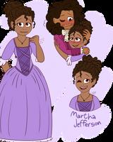 Hamilfied Martha Jefferson by CutieCakie