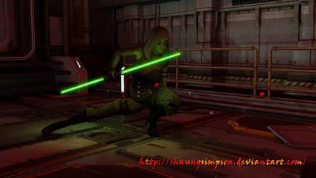 Mysh - Jedi Shadow by shaungsimpson