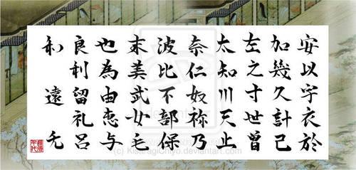 Hiragana in Kanji by KisaragiChiyo