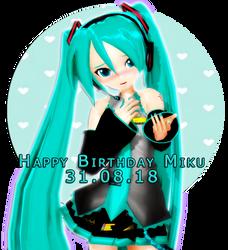 Happy Birthday Miku by AstriaArts