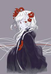 Albino hanbok girl by NineTailFoxG