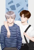 BTS. V and Jung Kook by KiyokoKitsu