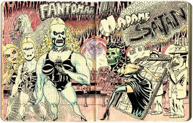 Fantomah Meets Madame Satan by benjaminmarra