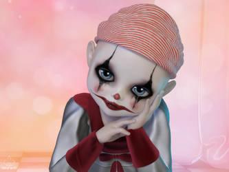 Tears of a clown by art-by-Amaranth