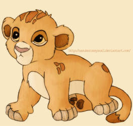 Simba baby by SasukeRoxMySox2