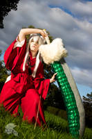 Inuyasha ready for the next battle by HoraiCosplay