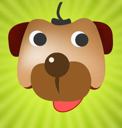 Funny dog face by mediarays