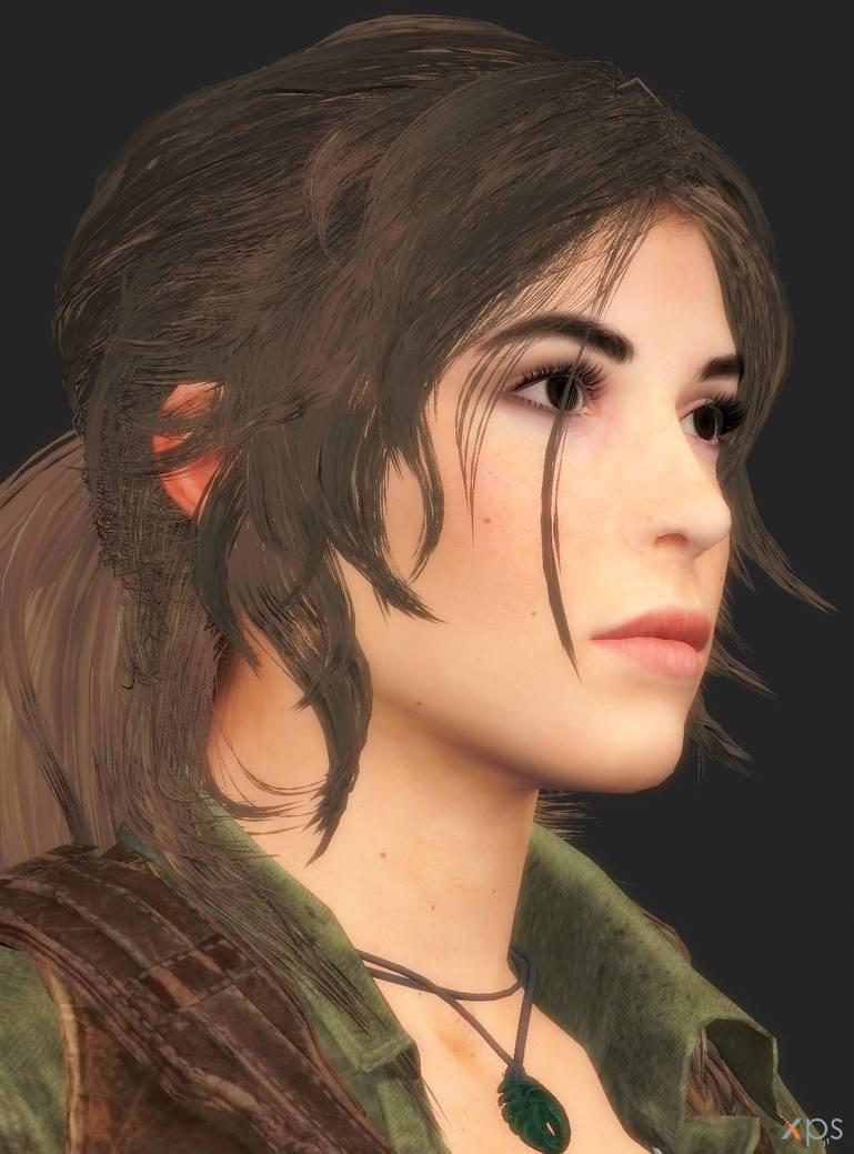 Lara Croft hair style C by XnaFreak