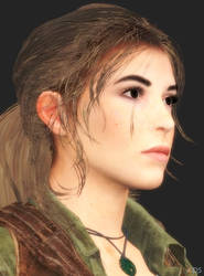 Lara Croft hair style D by XnaFreak
