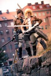 Ymir and Christa - Shingeki no Kyojin by TheCarebearFag