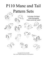 P110 Mane and Tail Pattern Sets Cover by valleyviolet