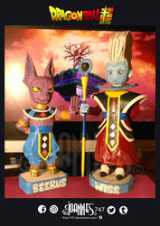 WISS AND BEERUS PAPERCRAFT by frost-747