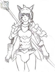 Final Fantasy XIV - Low Gear Lancer Miqo'te by Falryu