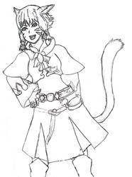 Final Fantasy XIV - Miqo'te White Mage Zanza Aqi by Falryu