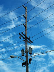 Electric poles, stock by TheMustardSeed