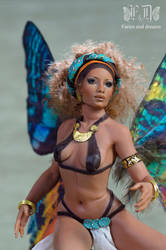 Madagascan sunset fairy close up by fairiesndreams