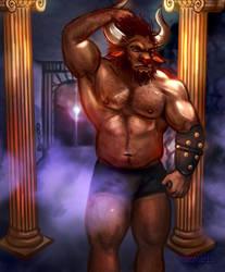 Boros the Minotaur -Gift Art- by ZanVarin
