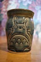 Blue Totoro Mug by pixelboundstudios