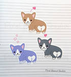 Chibi Corgi Stickers and Magnets by pixelboundstudios