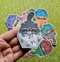 Chibi Raccoon d20 by pixelboundstudios