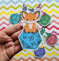 Chibi Fox D20 by pixelboundstudios