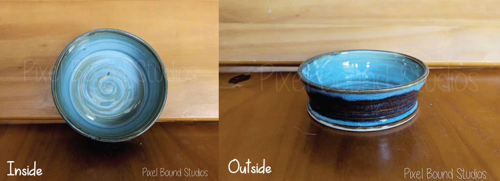 Hand Thrown Ceramic Pet Food Dish/Bowl by pixelboundstudios
