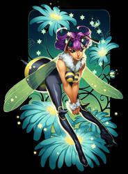 Darkstalkers Issue 1 - Q-Bee by emilywarrenart