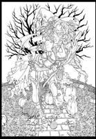 Witchy Garnet Lineart by emilywarrenart
