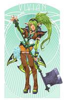 Vivian - Character Design by emilywarrenart