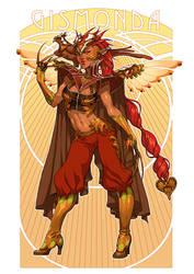 Gismonda - Character Sheet by emilywarrenart