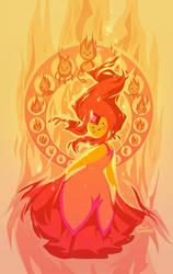 Adventure Time 15 - Flame Princess by emilywarrenart