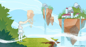 Islands in the Clouds by emilywarrenart