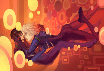 Klimt Shinji and Kaworu by emilywarrenart