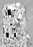 Linneus and Atros - The Kiss by emilywarrenart
