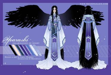 Yoarashi Character Sheet by emilywarrenart