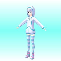WIP: ImagineGirls R1N4 V2 - default costume by kafuji